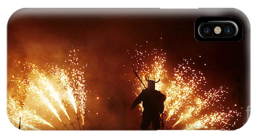 Fuego IPhone X Case featuring the photograph The Emergence Of The Devil by Agusti Pardo Rossello