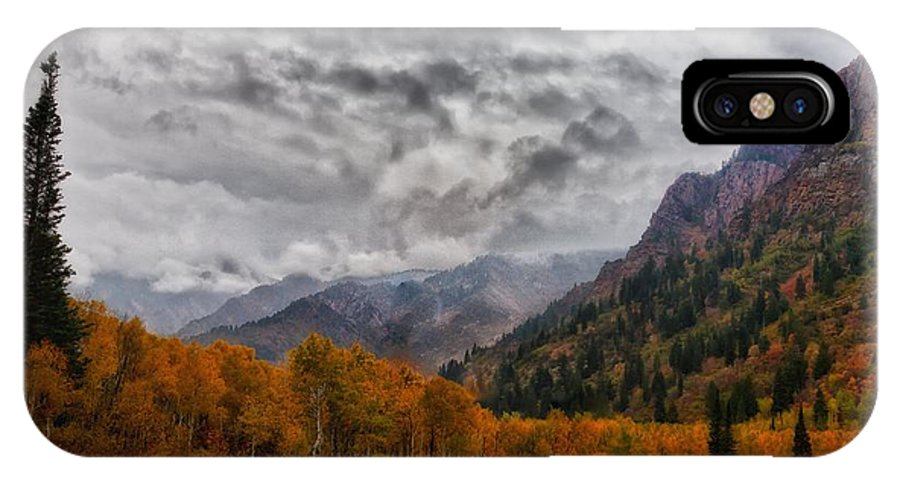 Landscape IPhone X Case featuring the photograph The End Of A Season by Mitch Johanson