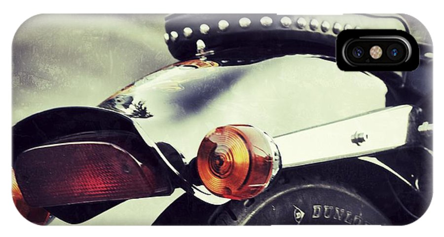 Motorcycle IPhone X Case featuring the photograph The End by Traci Cottingham