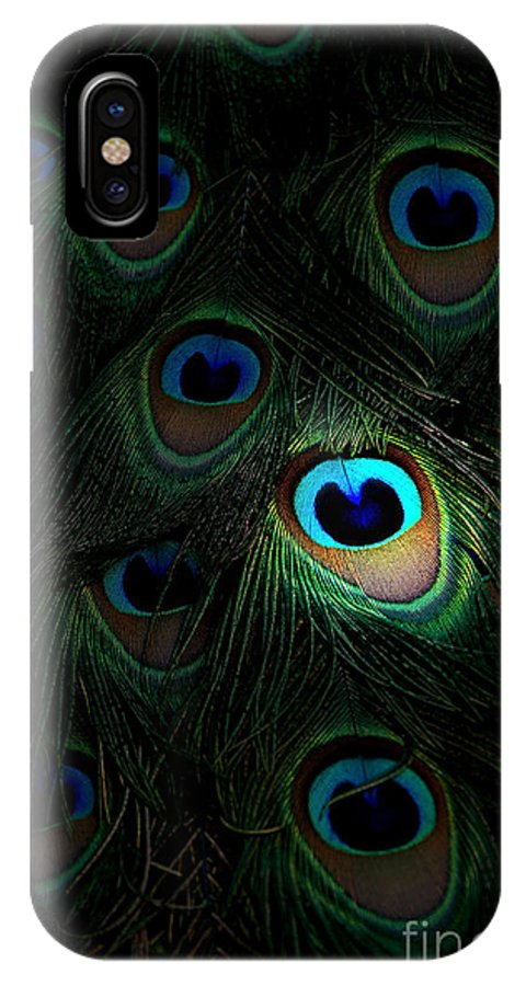 Peacock IPhone X Case featuring the photograph The Eyes Have It by Mike Nellums