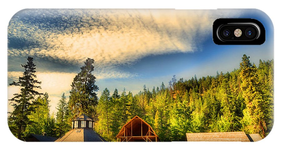 Barns IPhone X Case featuring the photograph The Fintry Barns by Tara Turner