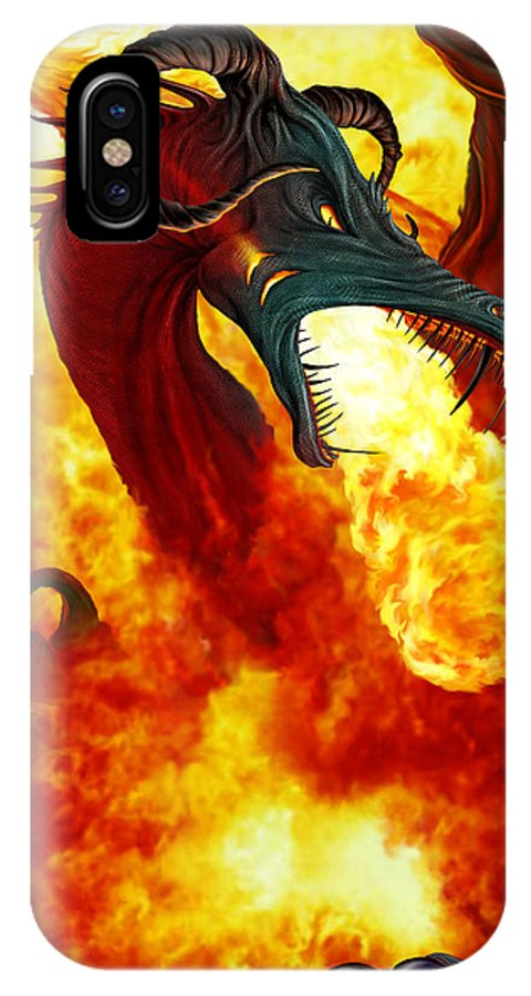 Adventure IPhone X Case featuring the photograph The Fire Dragon by The Dragon Chronicles - Garry Wa