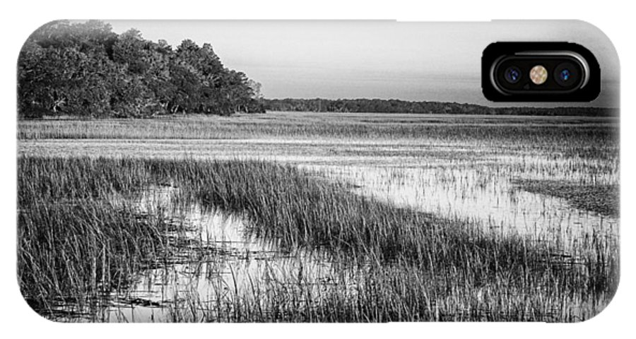 Beaufort County IPhone X Case featuring the photograph The Flats by Phill Doherty