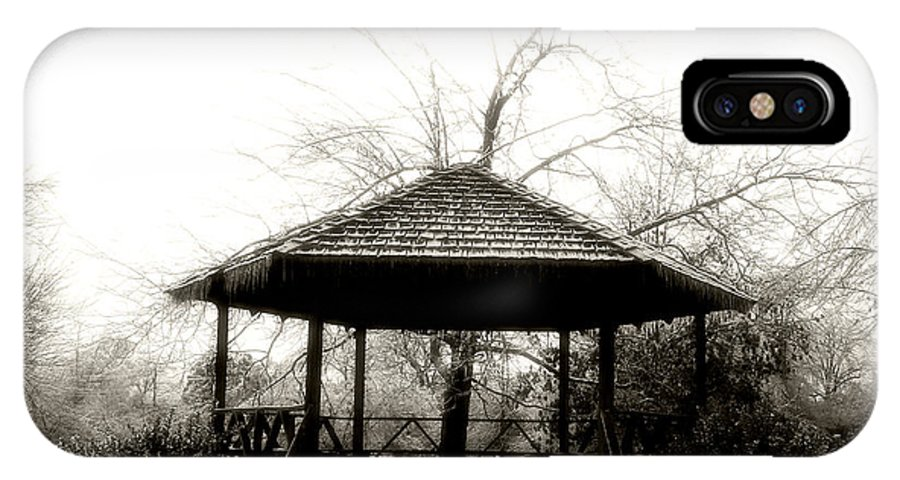 Architectural IPhone X Case featuring the photograph The Gazebo by Nina Fosdick