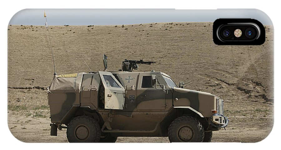 Operation Enduring Freedom IPhone X Case featuring the photograph The German Army Atf Dingo Armored by Terry Moore