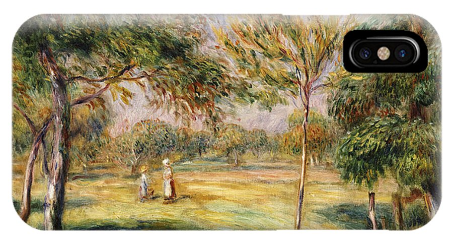 Impressionist; Impressionism; Countryside; Landscape; Tree IPhone X Case featuring the painting The Glade by Pierre Auguste Renoir