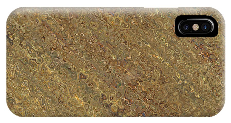 IPhone X Case featuring the digital art The Gold Angle by Debbie Portwood