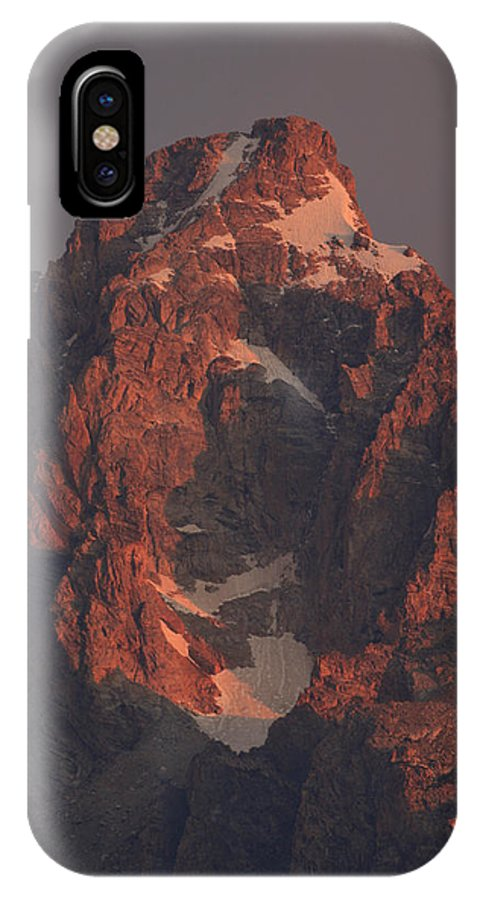 Grand Teton IPhone X Case featuring the photograph The Grand Teton At Sunrise by Drew Rush