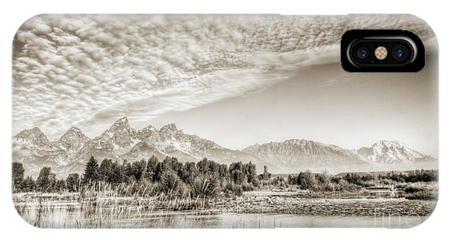 Grand Tetons IPhone X Case featuring the photograph The Grand Tetons In Jackson Wyoming by Dustin K Ryan