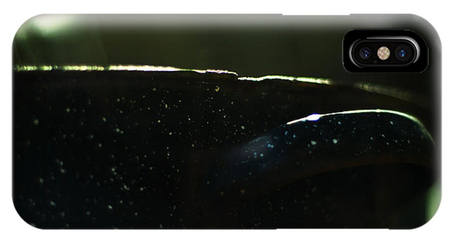 Black IPhone X / XS Case featuring the photograph The Graniteware Stock Pot by Rebecca Sherman