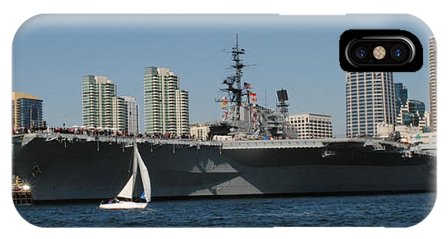 Aircraft Carrier IPhone X Case featuring the photograph The Great And The Small by Meagan Suedkamp