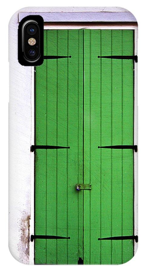 Door IPhone X Case featuring the photograph The Green Door by Jarrod Erbe