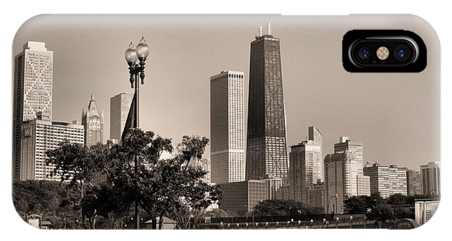 Hancock Building IPhone X Case featuring the photograph The Hancock Building - 2 by Ely Arsha