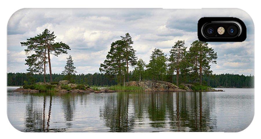 Haukkajärvi IPhone X Case featuring the photograph The Island In The Middle by Jouko Lehto