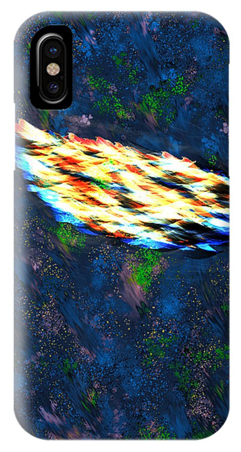 Last IPhone X Case featuring the digital art The Last Angel Feather by Mathieu Lalonde
