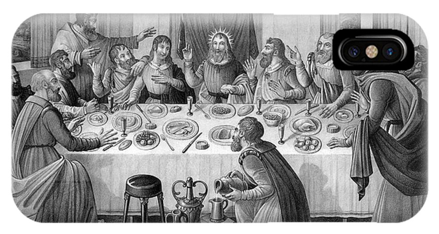 1835 IPhone X Case featuring the photograph The Last Supper by Granger