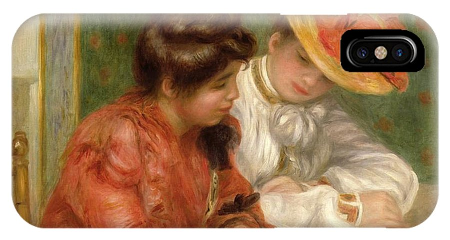 The Letter IPhone X Case featuring the painting The Letter by Pierre Auguste Renoir
