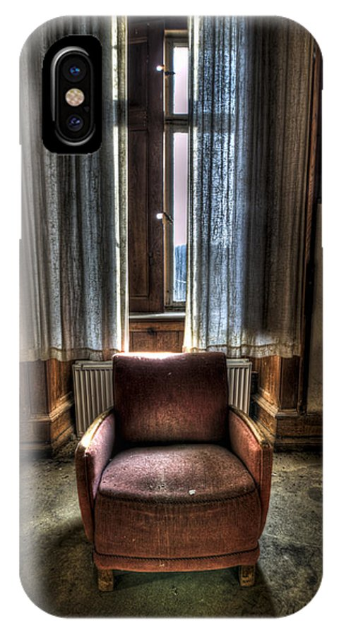 Abandon IPhone X Case featuring the photograph The Lone Seat by Nathan Wright