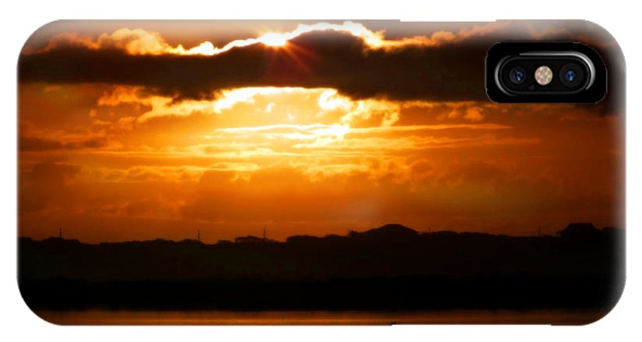 Sunrises IPhone X Case featuring the photograph The Magic Of Morning by Karen Wiles