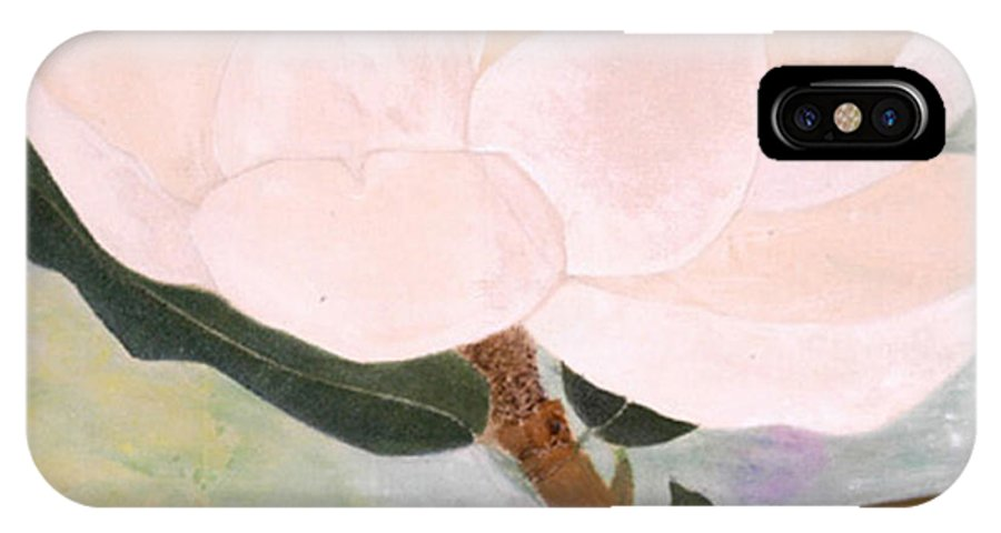 Framed Prints IPhone X Case featuring the painting The Magnolia by Lisa Baack