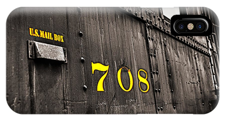 Antique IPhone X / XS Case featuring the photograph The Mail Car by John Sotiriou