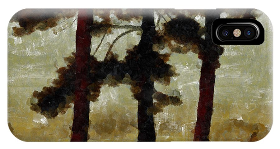 Tree IPhone X Case featuring the photograph The Morning Stroll by Trish Tritz