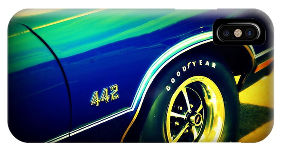 Oldsmobile 442 IPhone X Case featuring the photograph The Muscle Car Oldsmobile 442 by Susanne Van Hulst