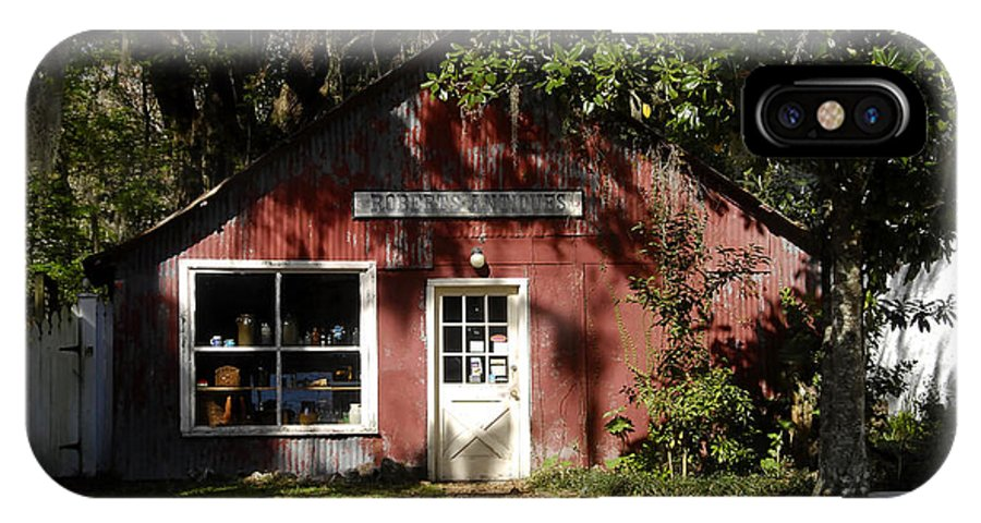 Anique Store IPhone X Case featuring the photograph The Old Antique Store by David Lee Thompson