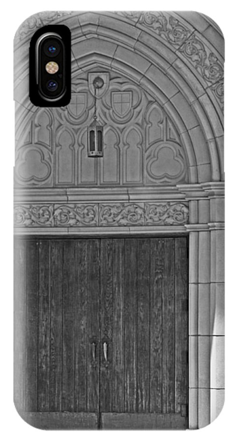 Church IPhone X Case featuring the photograph The Old Church Doors by Toma Caul