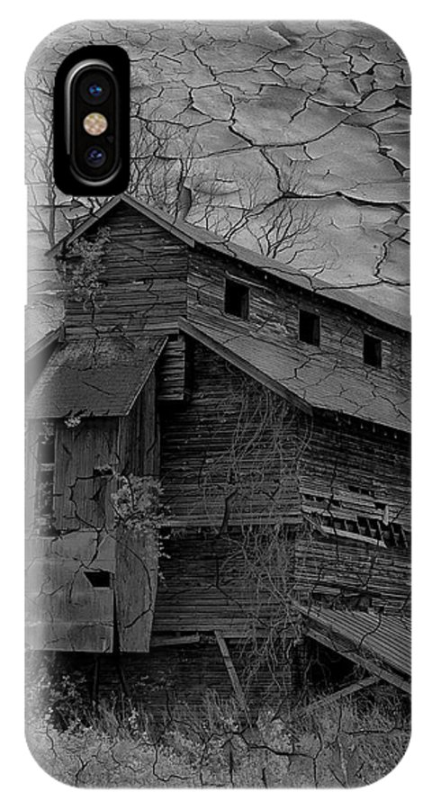 Abandoned IPhone X Case featuring the photograph The Old Douglassville Hotel by Trish Tritz