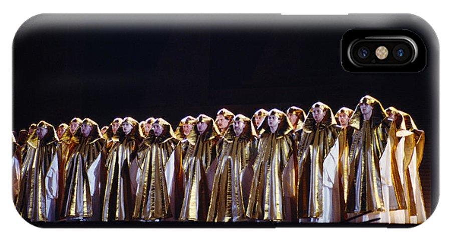 Verdi IPhone X Case featuring the photograph Verdi's Opera Aida by Shaun Higson