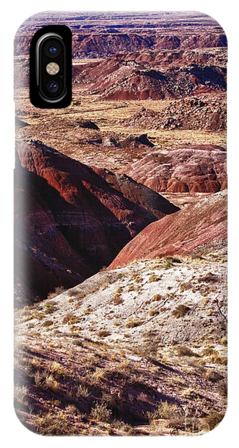 Arizona IPhone X Case featuring the photograph The Painted Desert 8023 by James BO Insogna