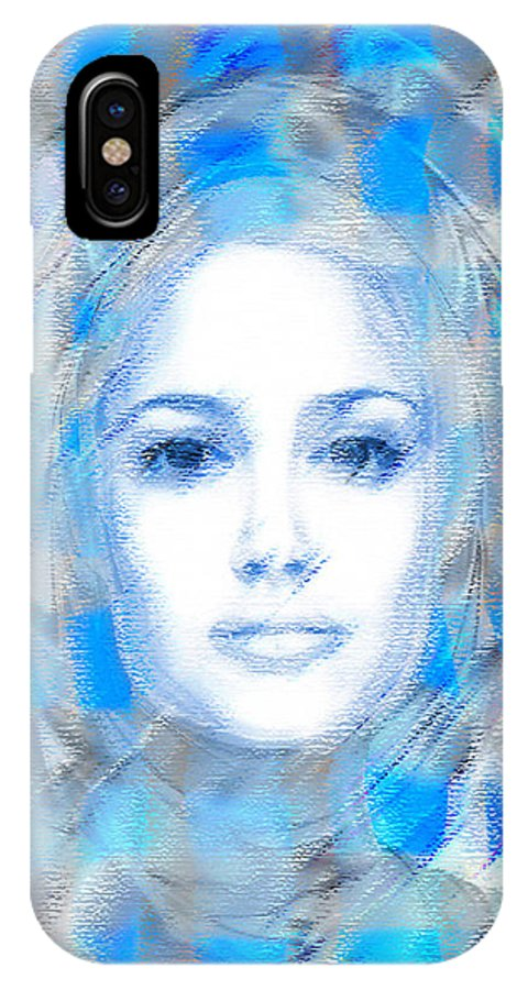 Face IPhone X Case featuring the digital art The Passage Fragment - Free by Andrea Ribeiro