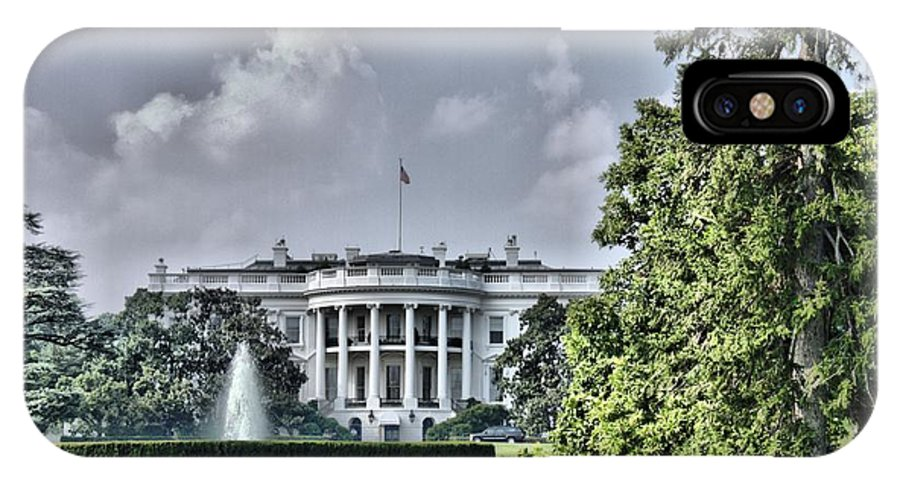 White House IPhone X Case featuring the photograph The People's House by Arthur Herold Jr