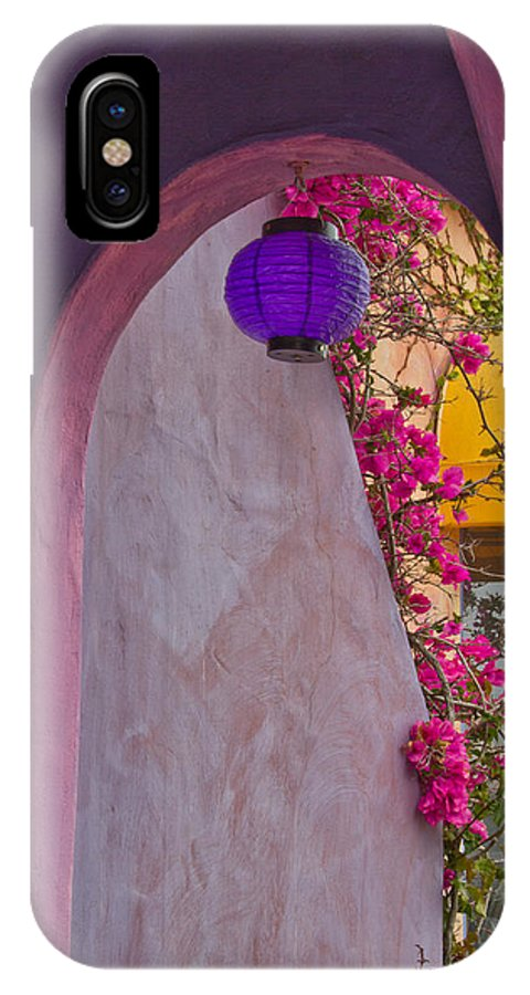 Architectural IPhone X Case featuring the photograph The Purple Lantern by Roger Mullenhour