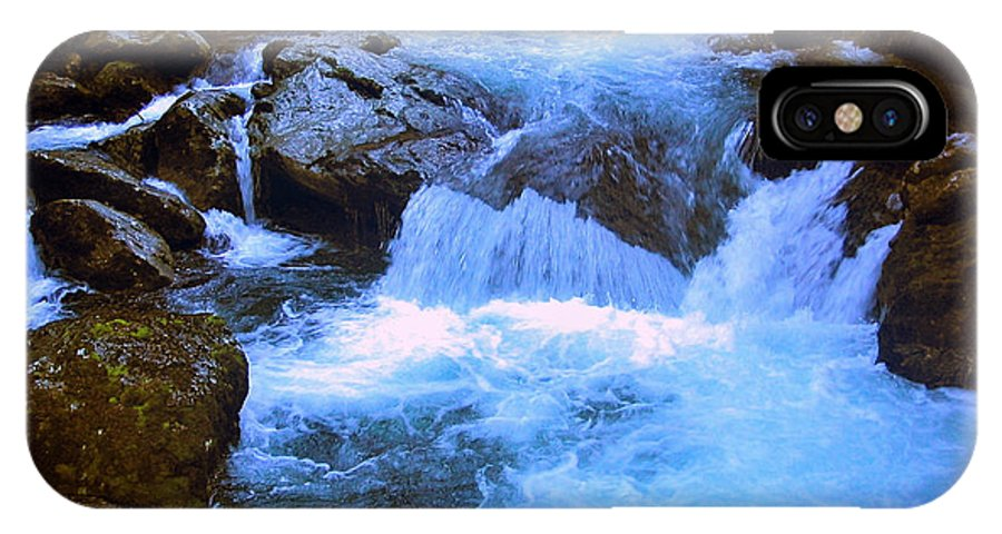 Waterfall IPhone X / XS Case featuring the photograph The Quintessential Falls by HweeYen Ong
