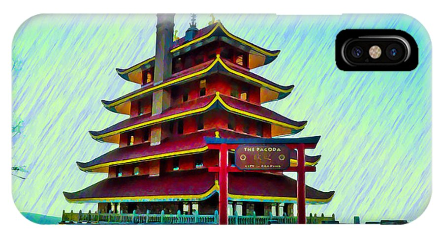 Reading IPhone X Case featuring the photograph The Reading Pagoda by Bill Cannon