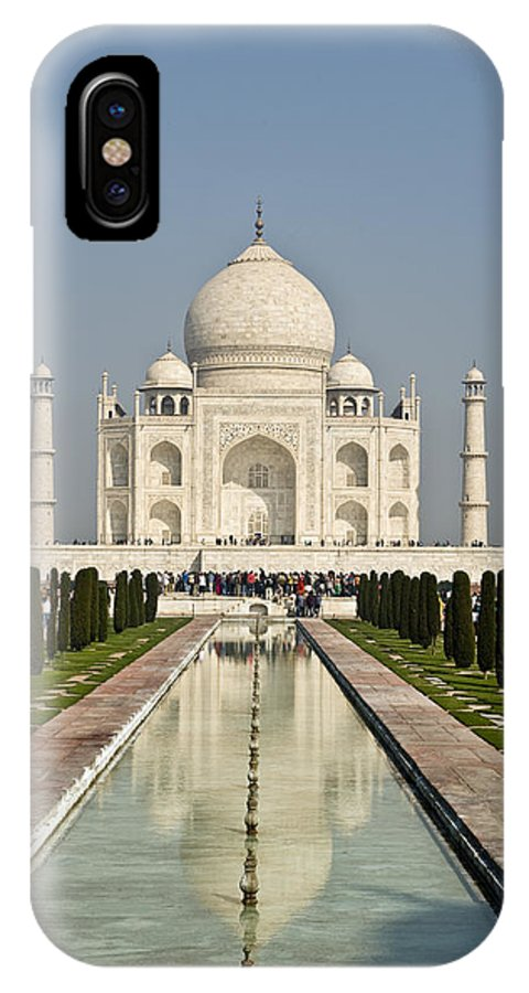 India IPhone X Case featuring the photograph The Reflecting Pool In The Charbagh Or by Lori Epstein