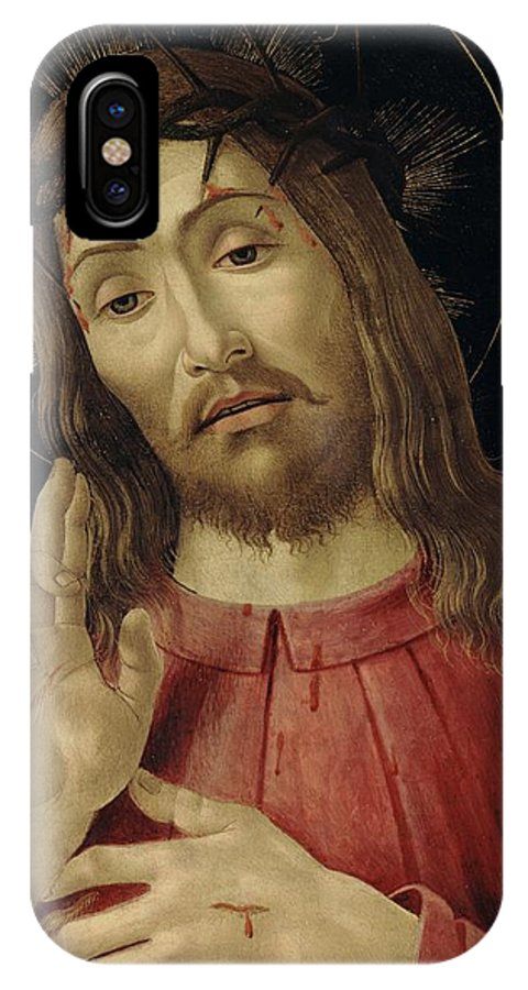 The IPhone X Case featuring the painting The Resurrected Christ by Sandro Botticelli