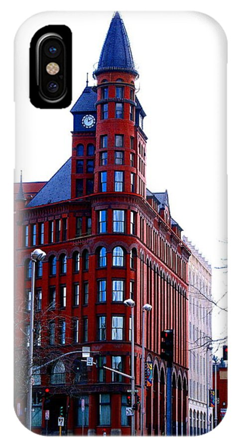 Spokane IPhone X Case featuring the photograph The Review Building by Ben Upham III