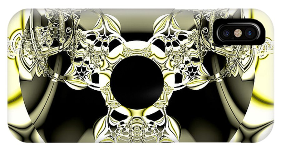 Fractal IPhone X Case featuring the digital art The Ring by Frederic Durville