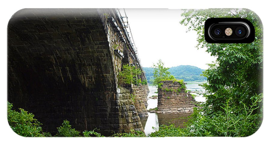 Bridges IPhone X Case featuring the photograph the river in Pennsylvania by Robert Margetts