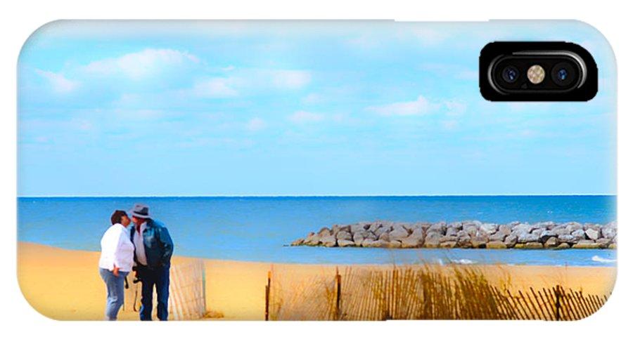 Cape Cod IPhone X Case featuring the photograph The Romantic Beach by Randall Branham