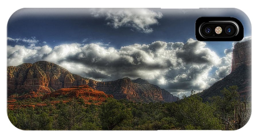 Sedona IPhone X Case featuring the photograph The Serenity Of Sedona by Saija Lehtonen