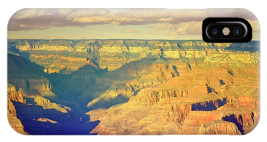 Shadows IPhone X Case featuring the photograph The Shadows In The Canyon by Tara Turner