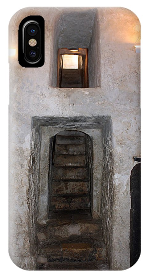 Stairs IPhone X Case featuring the photograph The Stairs To John The Baptist Tomb by Munir Alawi