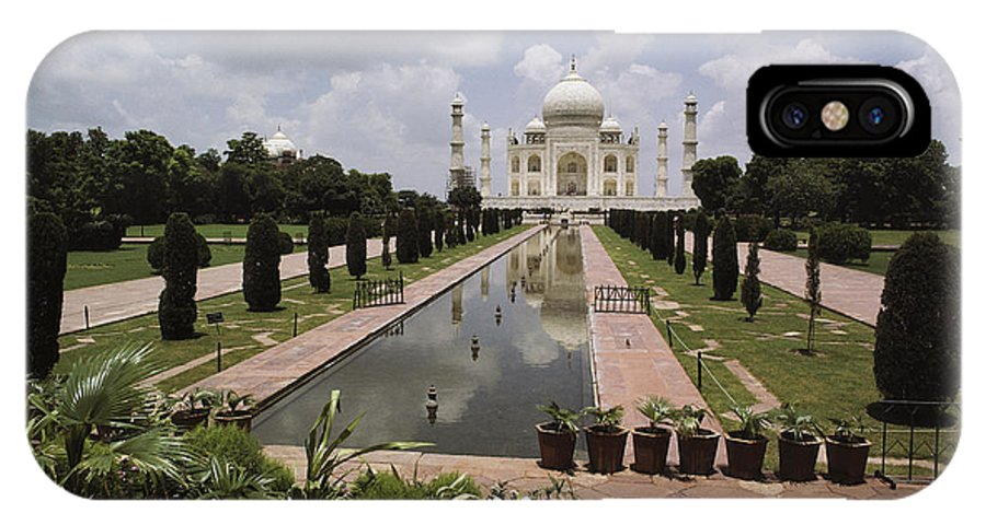 Asia IPhone X / XS Case featuring the photograph The Taj Mahal In Agra, India by James P. Blair