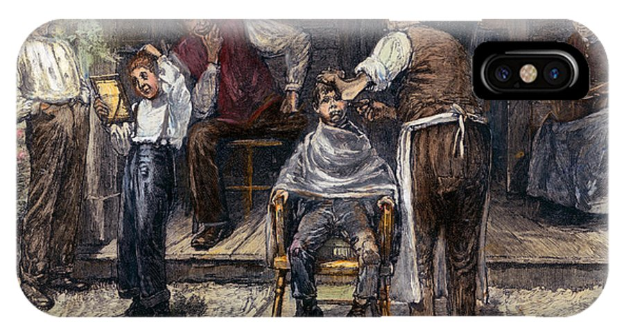 1883 IPhone X Case featuring the photograph The Village Barber, 1883 by Granger