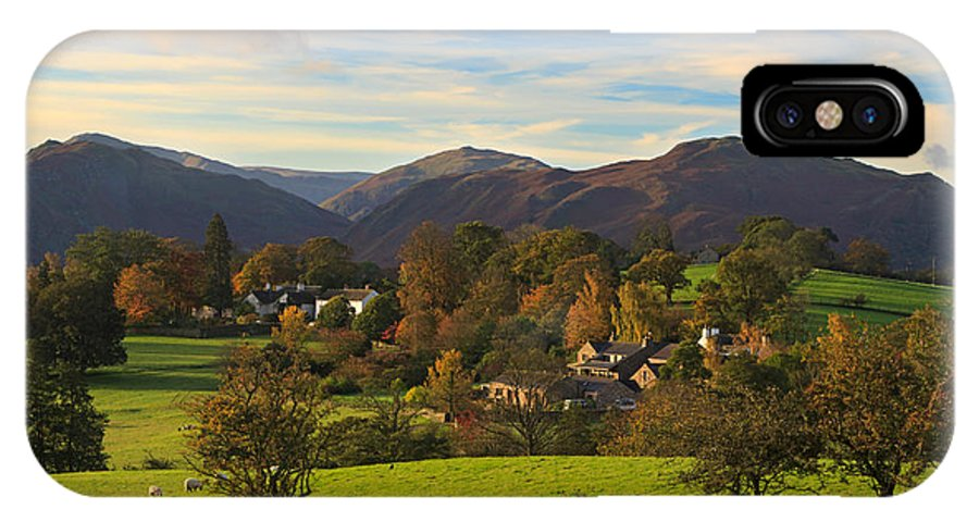Watermillock IPhone X Case featuring the photograph The Village Of Watermillock In Cumbria Uk by Louise Heusinkveld