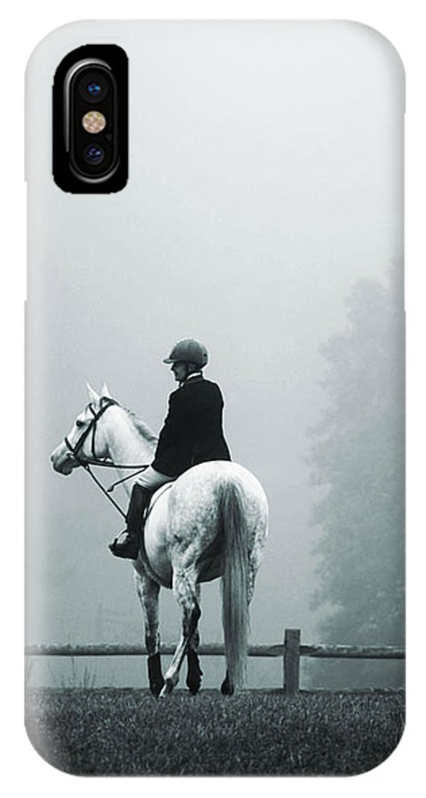 Horse IPhone X Case featuring the photograph The Watchman by Hannah Breidenbach